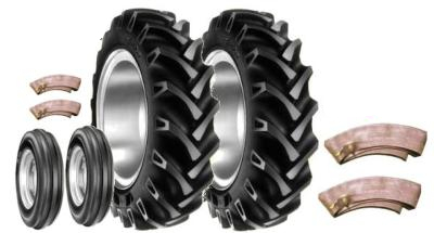 12.4 X 36 & 600 x 19 Tyre Set with tubes BKT